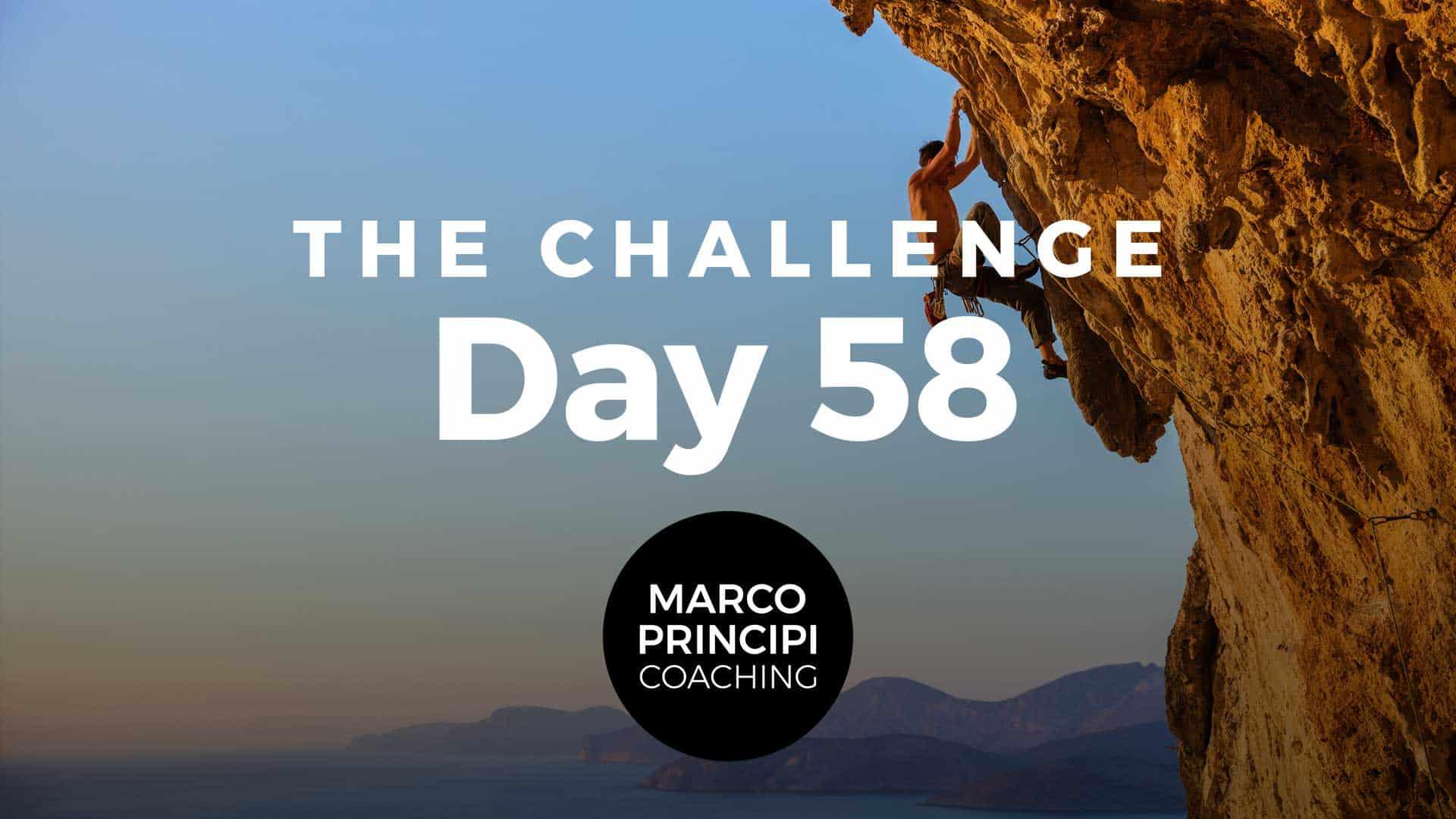 Marco Principi The Challenge Day 58