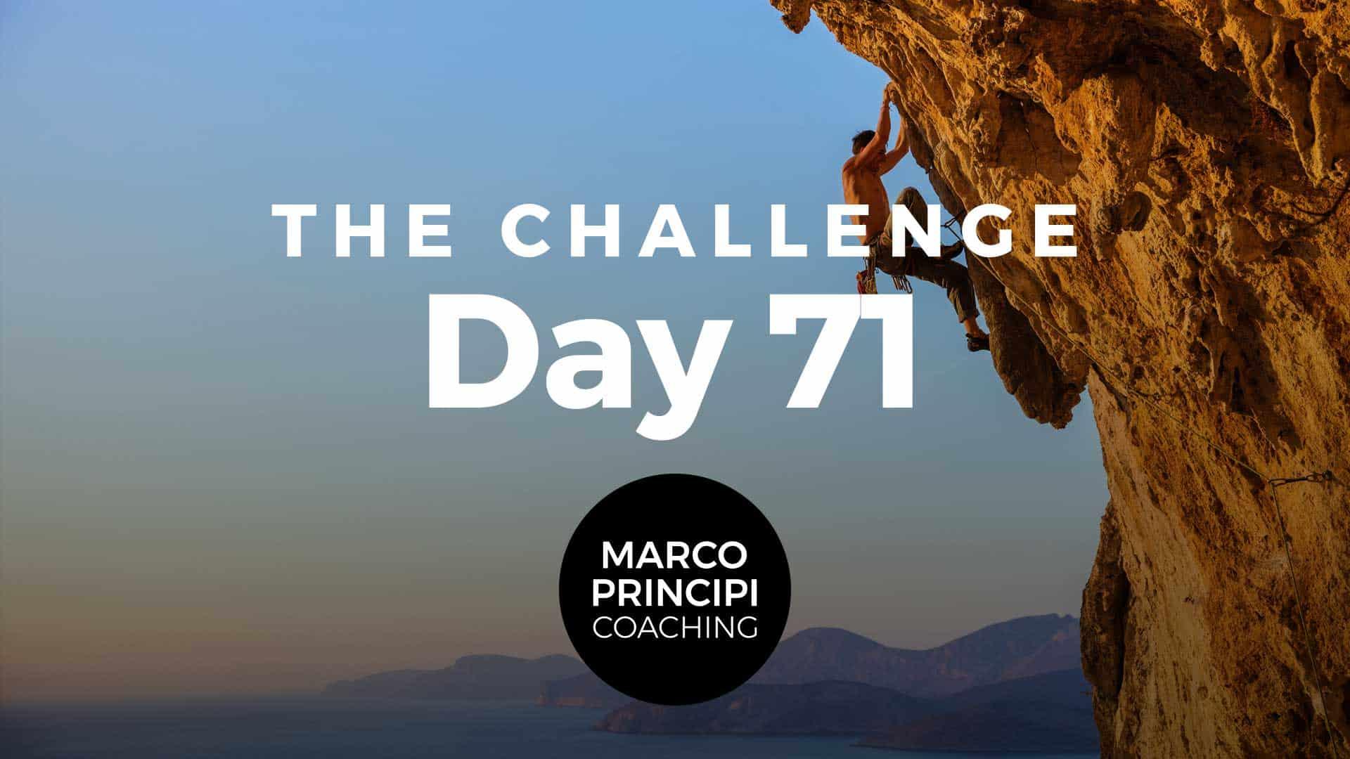 Marco Principi Coaching Challenge Day 71