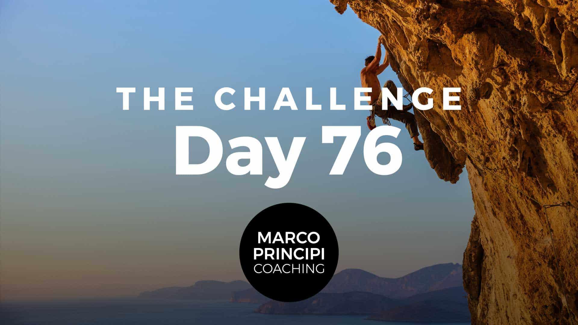 Marco Principi Coaching Challenge Day 76