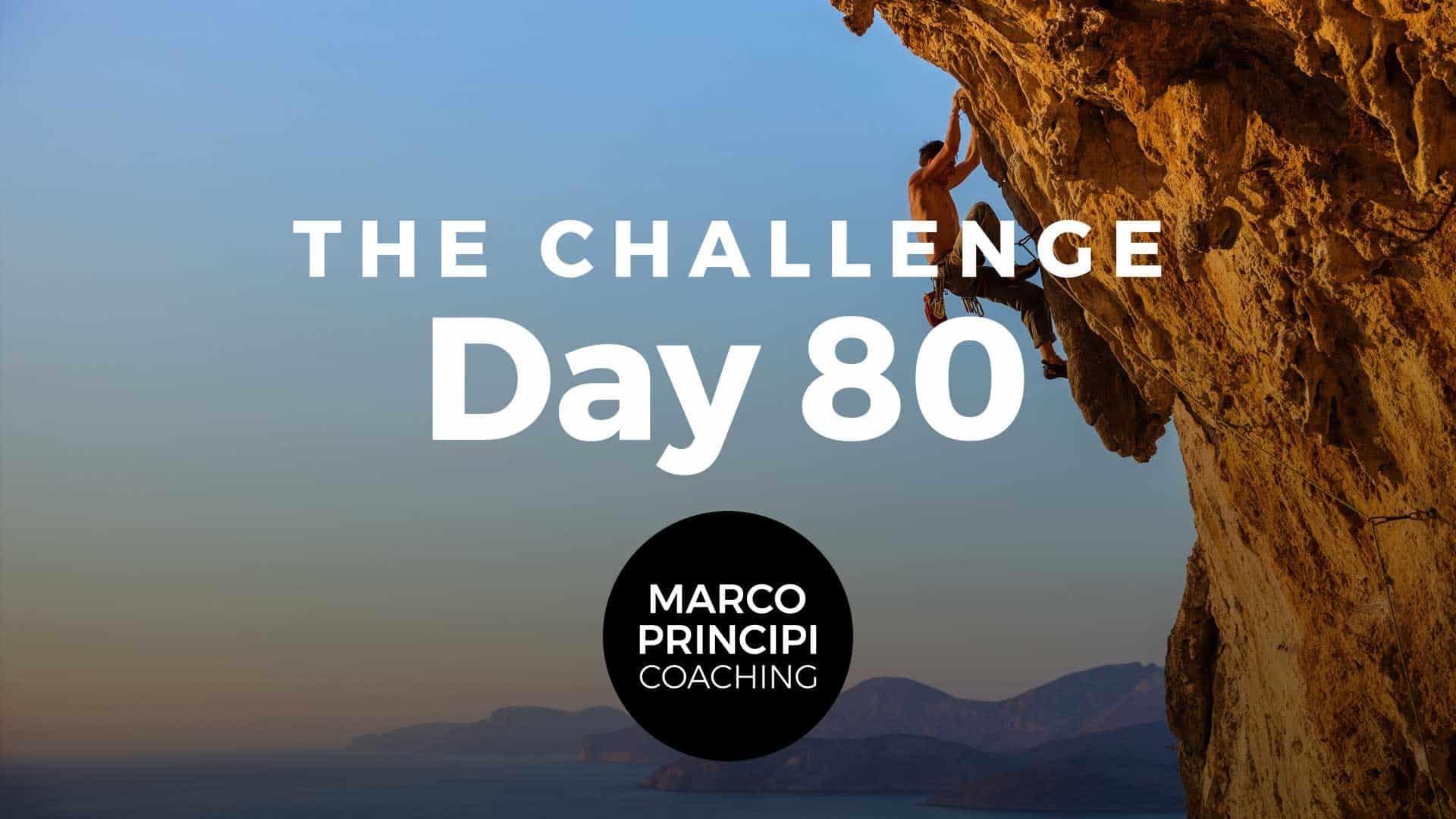Marco Principi Coaching Challenge Day 80